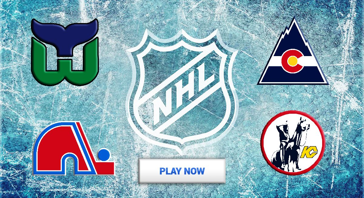 real hockey fans can match the old school logo to the nhl team